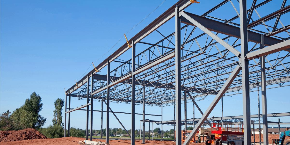 steel-building-supports-being-put-in-place